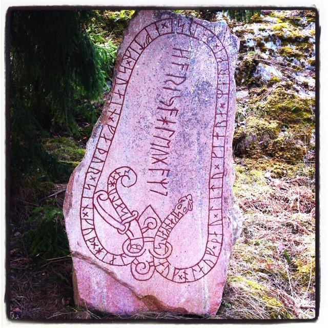 Runestone made by Swedish Vikings.