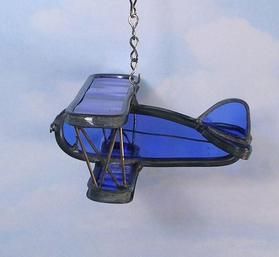Stained glass airplane, Airplane suncatcher, Airplane decoration, Decorative airplane, Home decor,Airplane decor