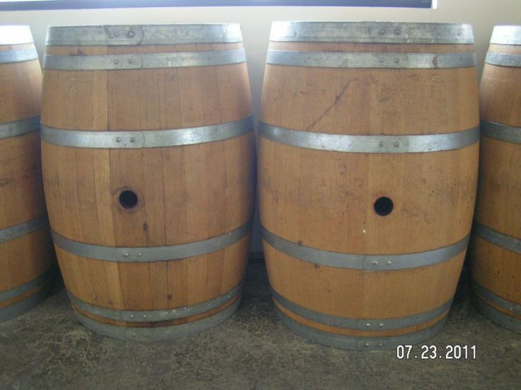 Used bourbon barrels