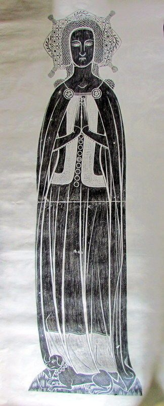 Life Size Brass Rubbing Elizabeth Stafford St Peter and St Pauls, Lingfield 1375