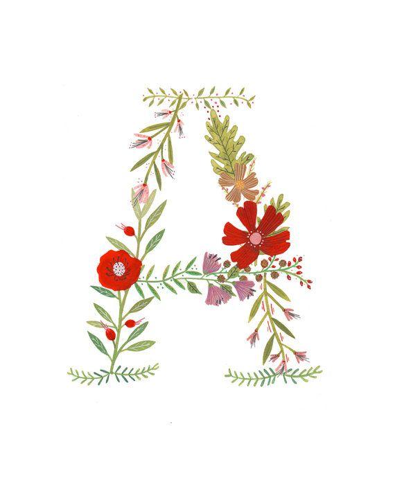 A Flower Monogram by Rebekkaseale on Etsy, $20.00