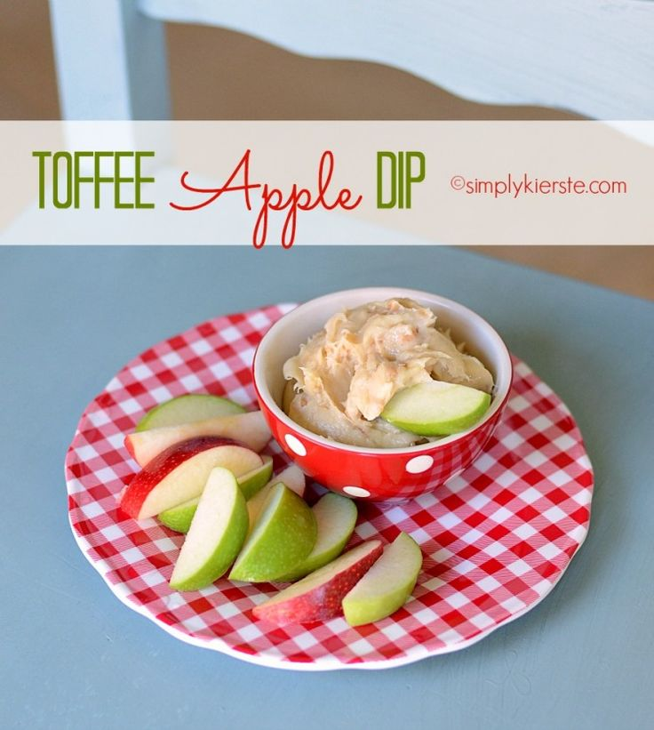 This delightful Toffee Apple Dip is perfect for fall parties, gatherings, football games, school parties, and more! It's easy to make, and always a hit! simplykierste.com
