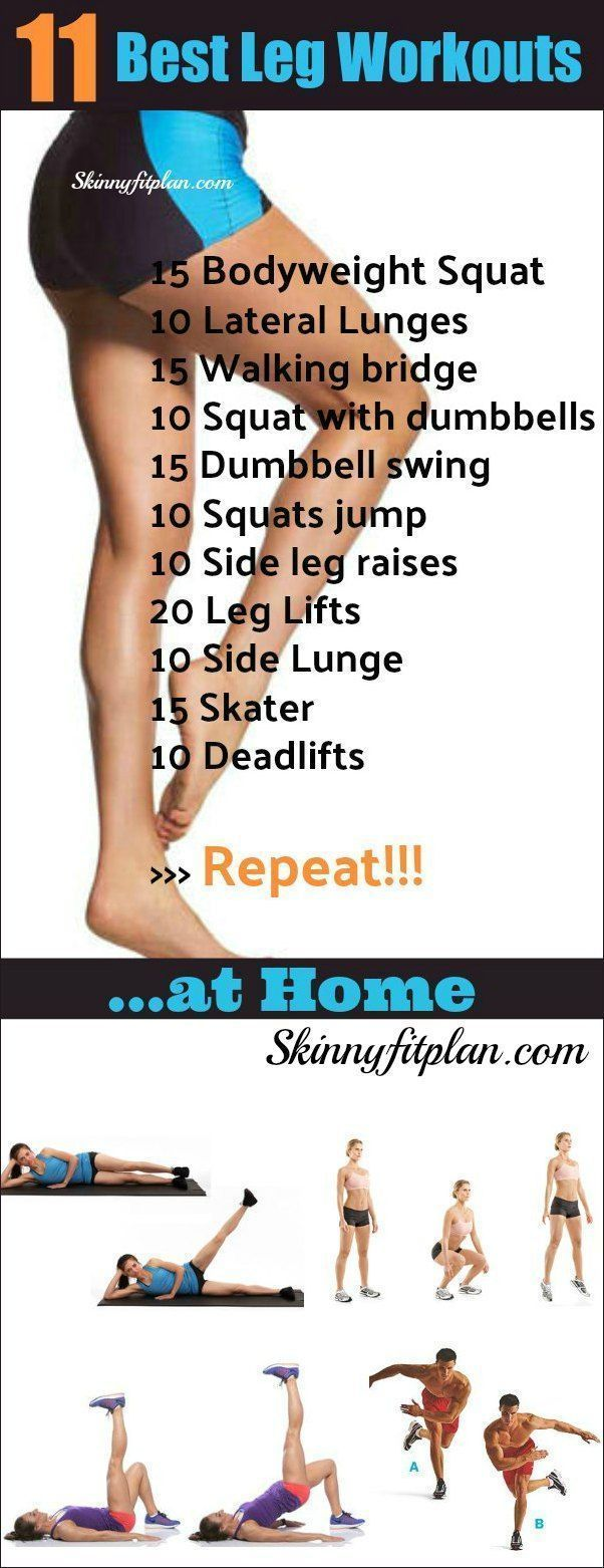 11 Best Leg Workouts at Home. Exercises to get your legs ...