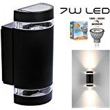 Trio Leuchten LED Außen-Wandleuchte, Aluminiumguss, inklusiv 3 x 1 W, 10 x 7 cm, um 320° schwenkbar, weiß 229160101: Amazon.de: Beleuchtung