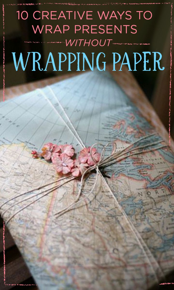 There's no need for paper when you have ingenious DIY gift wrap already lyin...
