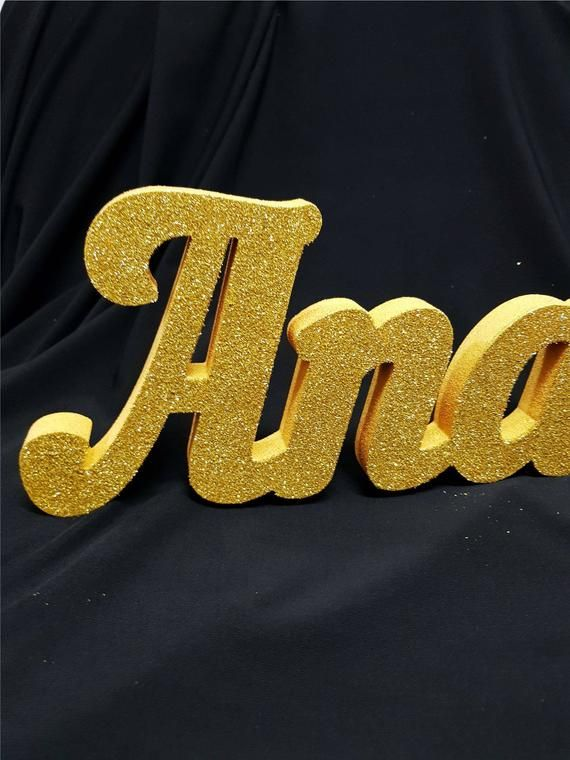 Gold Glitter Custom Name 3dgold Anaya Letters Name Age Etsy Gold Glitter Childrens Holidays Baby Shower Decorations