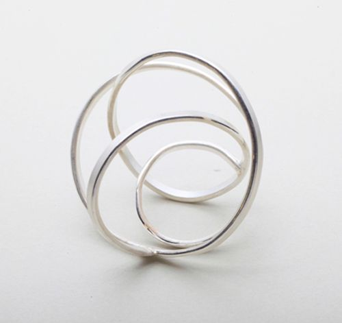 "HSIEH I TING-TAIWAN Ring: Rose, 2013 Silver 40 x 40 x 35 mm """"What I do presents my character as a designer, that is, to bring out the imagination. "" My works are always inspired by arts, architectures, …and my own illustration. I prefer to simplify the architectonics of the jewellery in order to show the cleanness of the design. I also construct pieces with imaginations and fantasies and preserves the sense of elegancy. """