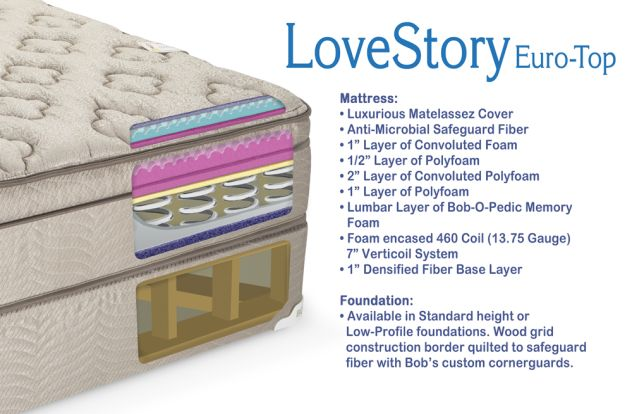 Love Story Euro Top mattress from Bob s $400