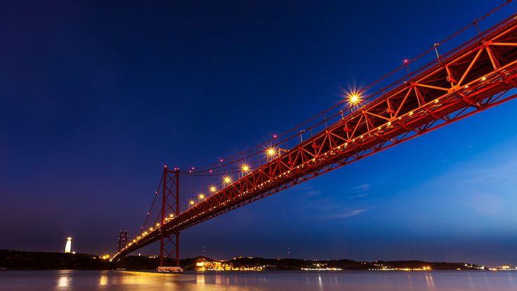 The 25th of Abril Bridge, Lisbon, Portugal