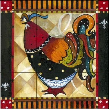 Tile Mural - Tuscan Rooster IV - Kitchen Backsplash Ideas - Mediterranean - Tile Murals - by The Tile Mural Store (USA)