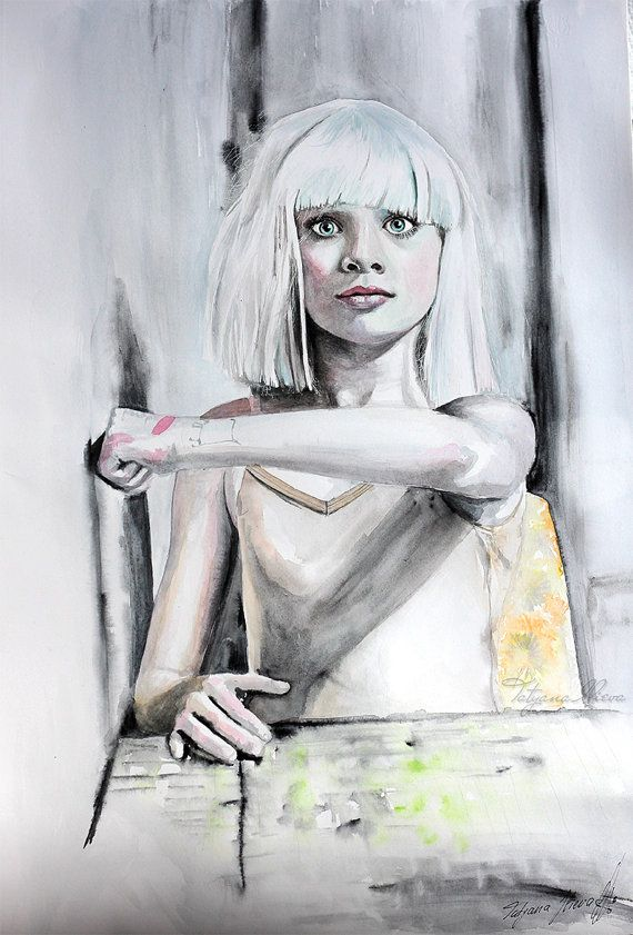 Maddie Ziegler poster. Watercolor print. Woman by TatyanaIlieva