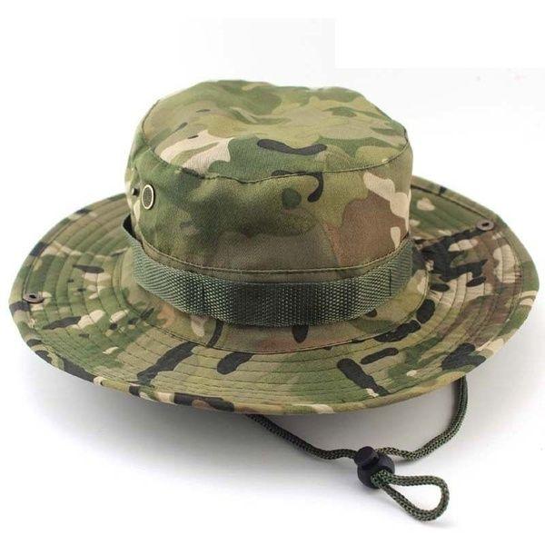 Men Camo Military Boonie Cap Sun Bucket Brim Bush Army Fishing Hiking Hat