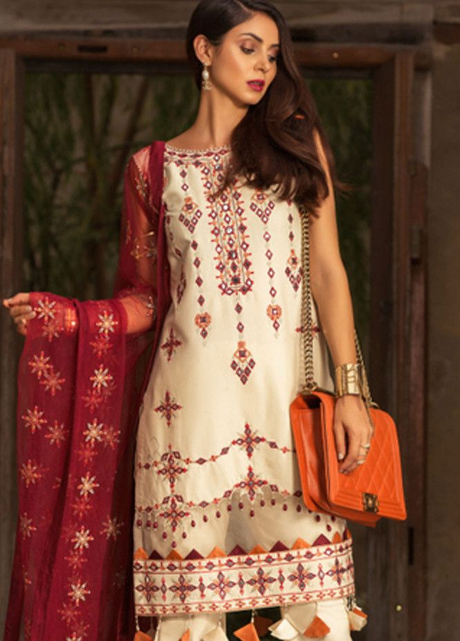f6e0e90d35 Noor by Saadia Asad Embroidered Lawn Unstitched 3 Piece Suit NSA19L 9B -  Spring / Summer
