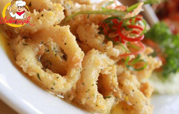 Resep Sajian Dengan Saus Mayones, Cumi Goreng Saus Mayo Daun Dill, Masakan Ala Cafe, Club Masak