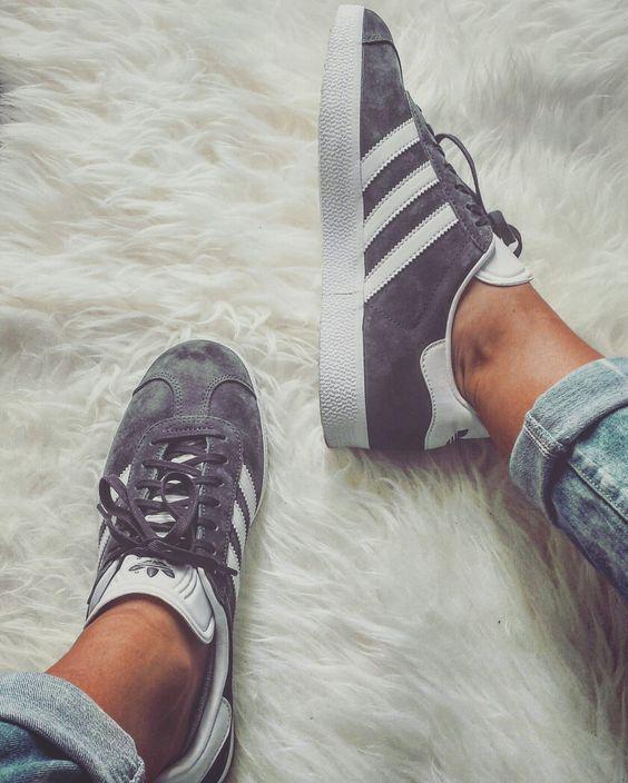 adidas gazelle women shoe grey