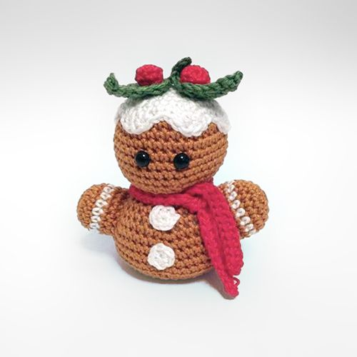 Download Gingerbread Man Bust Amigurumi Pattern (FREE)