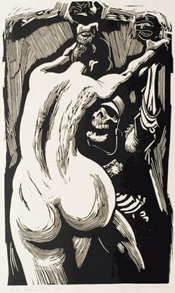 Noel Counihan, Peace means life, 1959, linocut, University of Western Australia Art Collection