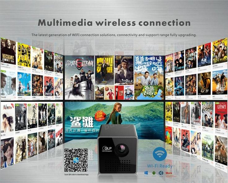 UNIC P1 Plus Vidéoprojecteur sans fil DLP de poche WIFI 30 Lumens Micro Miracast Projecteur DLNA