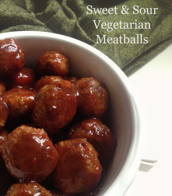 the BEST sweet & sour vegetarian meatballs EVER!! Yummy!!! :)
