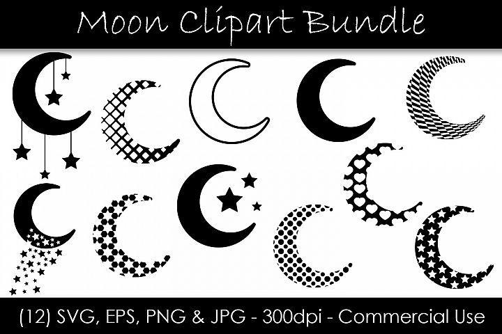 Moon Svg Bundle Moon Shape Clip Art Moon Silhouettes 361854 Illustrations Design Bundles Moon Silhouette Clip Art Moon Shapes
