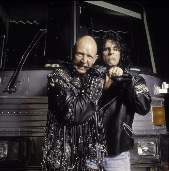 Rob Halford and Alice Cooper