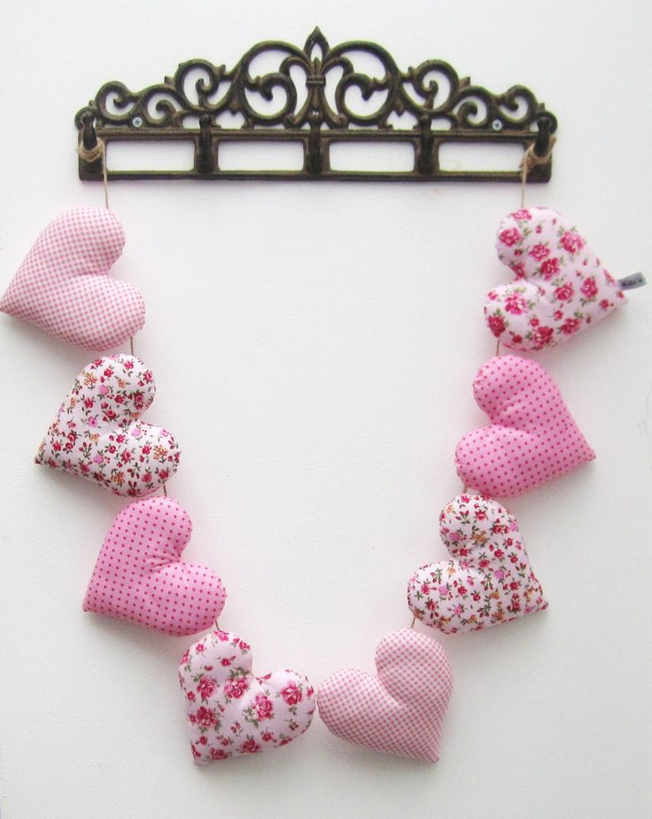Pretty Pink Heart Garland - £20