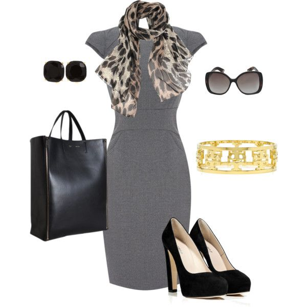 A fashion look from August 2012 featuring Warehouse dresses, Le Silla pumps and Tory Burch bracelets. Browse and shop related looks.