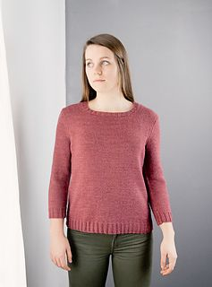 fine knit pullover by megan goodacre / in quince & co. tern