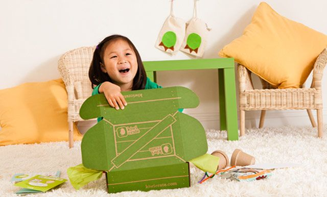 Kiwi Crate -- like Birchbox for kids (a box of fun each month in the mail)... automatic rainy day fun (or, if you know a rainy week is coming up, send a package with your own goodies in the mail, addressed to the tots for them to open in a few days)