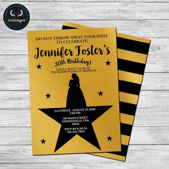 Hamilton Party Invitation by ERRdesigns. Purchase Options For ...