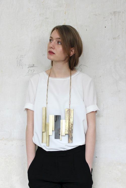 Jewelry by KAT KA-KATHARINA GEIGER.-DE Evolution series. Necklace made of brass.