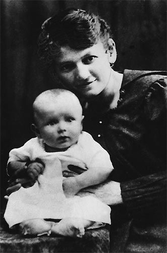 St. John Paul with his Mother in 1920 :)