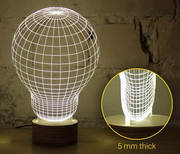 BULBING-a-2D-LED-lamp-using-3D-wireframe-2