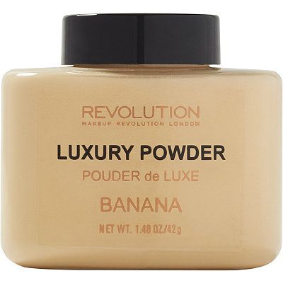"Makeup Revolution Luxury Banana Powder ($8): We've all heard of ""baking"" to make under eyes look brighter and to prolong the wear of concealer. This powder is perfect for doing just that. It's super comparable to the Ben Nye Banana Powder that celebrity makeup artist, Mario Dedivanovic, swears by."