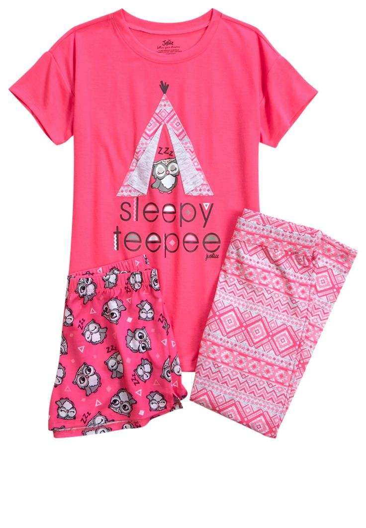 Owl Teepee Pajama Set (original price, $36.90) available at #Justice
