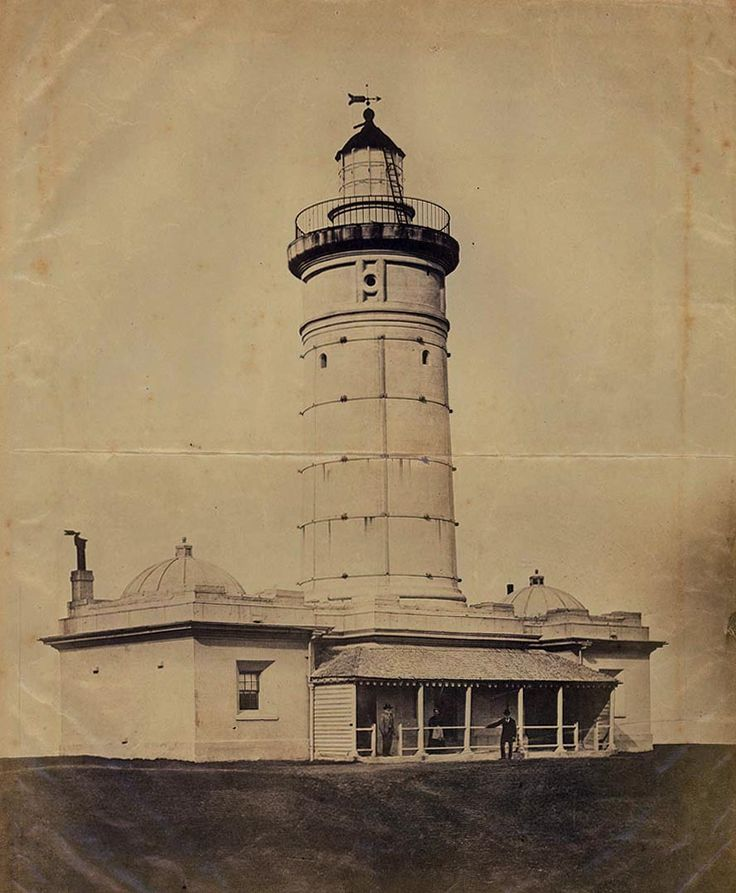 First Macquarie Lighthouse at Vaucluse in eastern Sydney in c.a.1870.