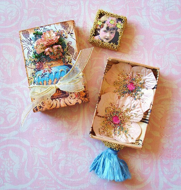 altered Matchbox | Altered Domino in a Matchbox swap | Flickr - Photo Sharing!