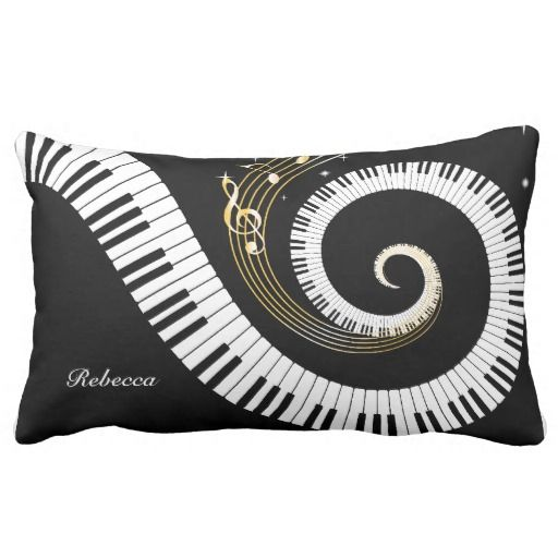 Personalized Piano Keys and Gold Music Notes