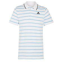 Buy Adidas Essential Stripe Polo Shirt Online at johnlewis.com