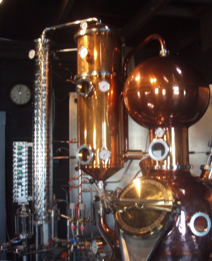 Ironworks copper still, making some of the best cranberry vodka I ever tasted (in Lunenburg, NS)