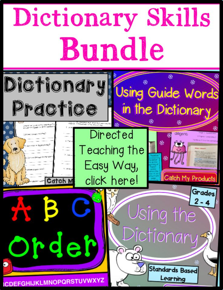 Dictionary Skills for PROMETHEAN Board Dictionary skills