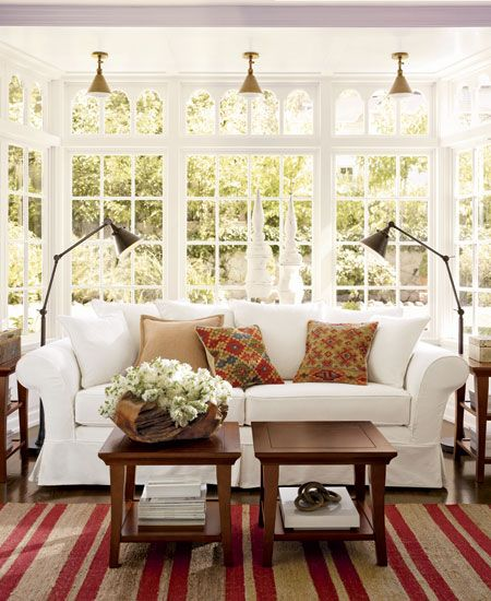 Wonderful White Living Room Interior Ideas: Decorating Hampton's Beach Style