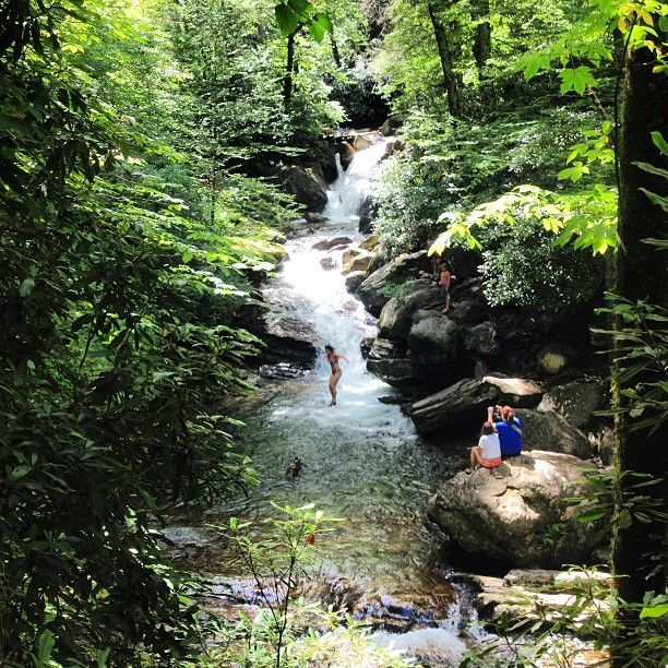 """12. Jump off the rock or just simply wade in the waterfall swimming hole of Skinny Dip Falls.This is among the locations I scouted several years ago for the """"Better & Better Series"""" I directed."""