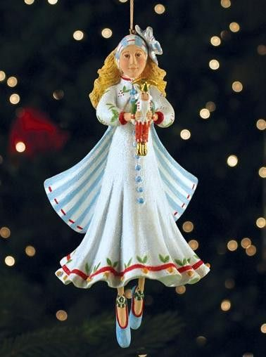 Patience Brewster Krinkles Nutcracker Ballet Clara Christmas Ornament