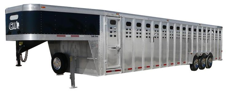 Cattle trailers are used for hauling cattle when necessary. You could haul them to the veterinarian when they're sick, or to auctions. We also haul them to prospective buyers.