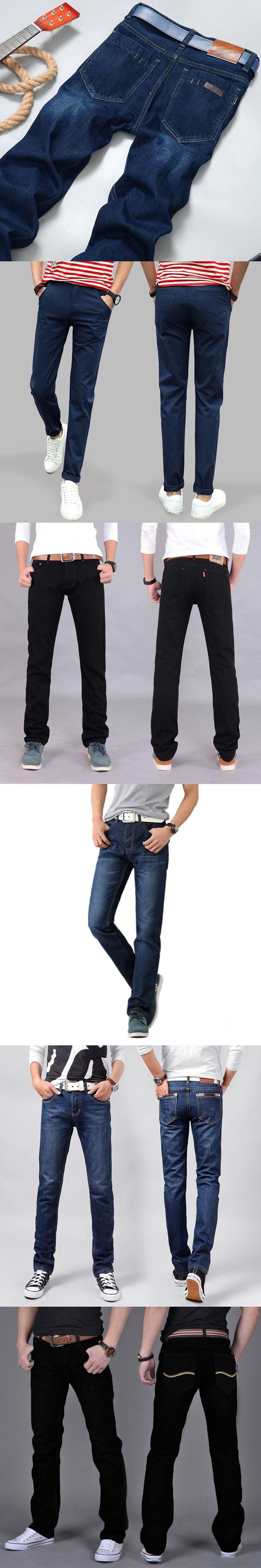 New Casual Men's Jeans Slim fit Men Pant Personality pockets Fashion Jeans Men Straight Plus Size 28~38/40 hombre pantalones