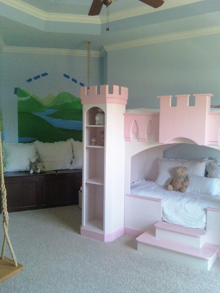 No s lo cama de castillo un columpio tambi n cuartos - Camas para ninas ...