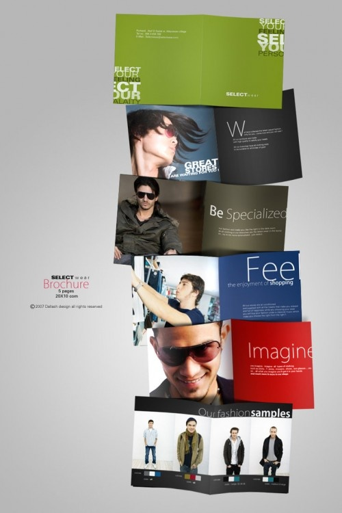 Best Fashion Brochure Images On   Brochures Brochure