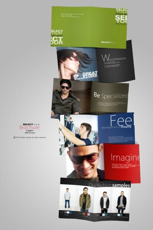 Best Fashion Brochure Images On   Brochures Brochure