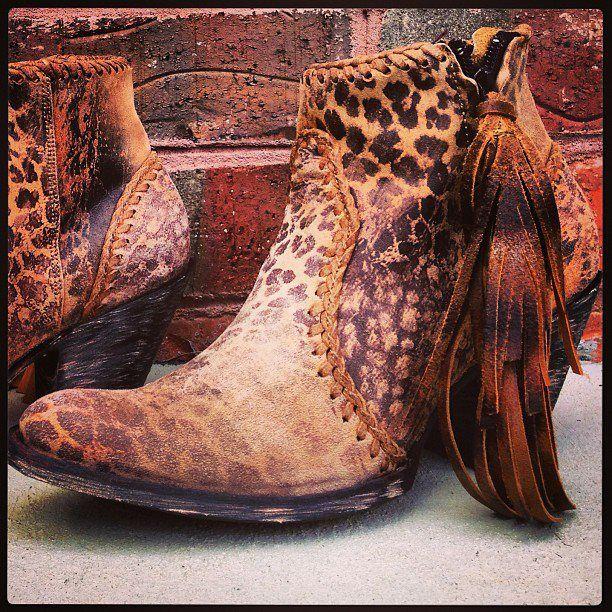 Old Gringo Adela Cowgirl Boots. Leopard Print. BL1116-13 at RiverTrail in North Carolina. #fringe #highheels #leopardprint